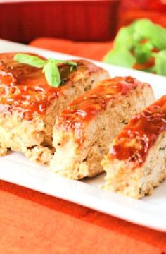 Turkey Dishes, Turkey Recipes, Great Recipes, Chicken Recipes, Favorite Recipes, Italian Meatloaf, Turkey Meatloaf, Zucchini Meatloaf, Chicken Meatloaf