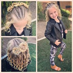 "1,475 Likes, 27 Comments - Ashley Cardon (@ashley_cardon_hairstyles) on Instagram: ""All ready for the week! We added a couple French braids on the sides with a couple more braided…"""