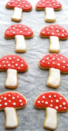 Toadstool biscuits! <3