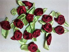 RR-111, $1.25, Burgundy Ribbon Roses
