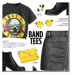 """I'm With the Band: Band T-Shirts"" by fashion-bea-16 ❤ liked on Polyvore featuring Topshop, Miu Miu, Jayson Home, Deborah Lippmann, Krewe, Dolce&Gabbana, gunsnroses, polyvoreeditorial and bandtees"
