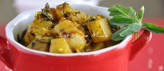 Tilwale Aloo Methi - Curried Potato and Fenugreek with Sesame Seeds  Posted on November 23, 2010 by Radhika @ Just Homemade	  Curried Potato and fenugreek sprinkled with sesame seeds