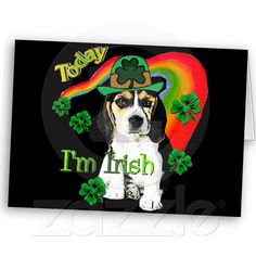 St. Patrick's Day Beagle Greeting Cards from Zazzle.com
