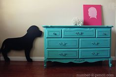 no. 2 pencil: Turquoise Dresser Makeover with Chalk Paint