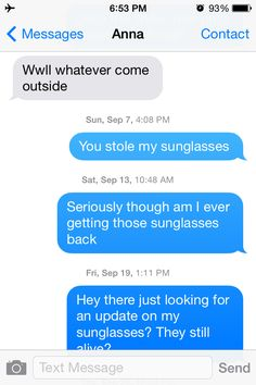 This Guy Messaged A Girl For Almost A Year Asking To Get His Sunglasses Back, And You Won't Believe Her Response   Thought Catalog