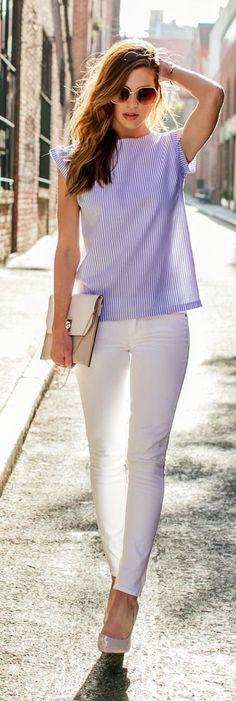 Stripes and whites #WimbledonFashion