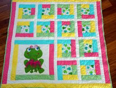 Lo, Ray, & Me: Frog Applique Quilt
