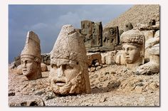 Nemrut Dag, Turkey Nemrut Dag (Mt Nemrud) is a mountain of 2,150m height. It is located near the village of Karadut in Kahta county in the remote province of Adiyaman. During 80 B.C.-72 A.D., the Kommagene Kingdom reigned on the lands in that region. The God and the King Statues and reliefs are the remains of the Tumulus and Hierothesion of King Antioches I of Kommanege, who reigned during 69-36 B.C.