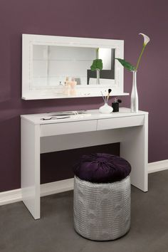 Starlight Dressing Table, Desk and Mirror contemporary bathroom vanities and sink consoles