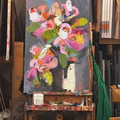Working on another floral for a solo show in April at Artists & Makers in Rockville, MD.  Loving and lavender, pink and orange shades in this so far. . . . . #interior9508 #homedetails #interiorandhome #metrodcartist #interiorlovers #workhouseartscenter #workhouseartist #artisticlife #artyourhome #artconsultants #artcurators #luxuryhomes #gallerists #hospitalityart #hospitalitydesign #colorfulinspiration #creativelifestyle #creativeartist #colorfullife #artforinstagram  #colorfulart…
