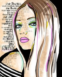 Karma  / original illustration ART Print Hand SIGNED by studio3ten. , via Etsy.