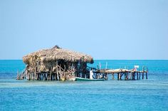 Floyd's Pelican Bar near Treasure Beach Jamaica, you can only get there by boat!