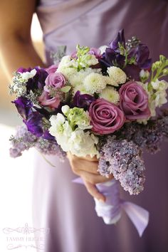 touches of lilac made this bouquet smell heavenly