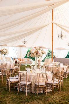 rustic pink garden wedding reception decor ideas