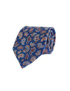 Corbata de seda Blue Nagarhole Indian Lord