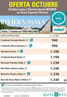 Oferta Octubre a Riviera Maya desde 940€. Salidas Lunes y Viernes desde Madrid ultimo minuto - http://zocotours.com/oferta-octubre-a-riviera-maya-desde-940e-salidas-lunes-y-viernes-desde-madrid-ultimo-minuto/