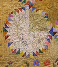 Festival of Quilts 2011-Love the multi colored embroidery.