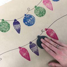 Christmas Blocks, Christmas Mood, Christmas Wrapping, Christmas Print, Christmas 2019, Print Wrapping Paper, Wrapping Paper Crafts, Linoprint, Linocut Prints