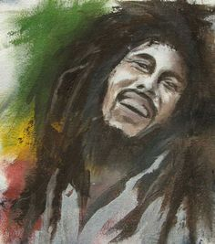 Acrylic Painting After: Bob Marley