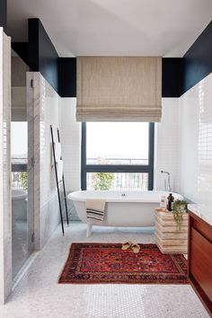 Real Simple Magazine Real Simple Home, Master Suite Bathroom in Brooklyn Loft by Studio McGee Home Real Simple Magazine: Brooklyn Penthouse Reveal Interior Exterior, Home Interior, Bathroom Interior, Decor Interior Design, Interior Decorating, Decorating Ideas, Studio Mcgee, Design Seeds, Decor Inspiration
