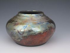 Raku Pottery for Sale | Alternative Firing Raku Vase/Bowl by earthtoartceramics on Etsy