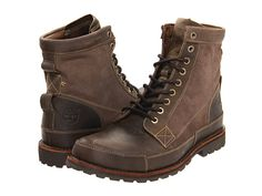 """Timberland Earthkeepers® Rugged Original Leather 6"""" Boot Dark Brown - Zappos.com Free Shipping BOTH Ways"""