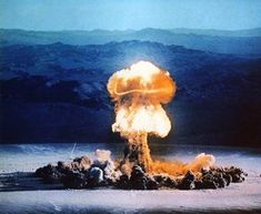 Inch Print (other products available) - Atomic bomb explosion - Image supplied by Science Photo Library - print made in the UK Bomba Nuclear, Nuclear Test, Nuclear Bomb, Atomic Bomb Explosion, Mushroom Cloud, Weapon Of Mass Destruction, Destroyer Of Worlds, Shot Photo, Science Fiction