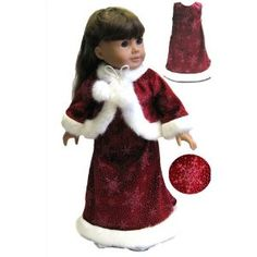 "Snowflake Velvet Dress and Jacket. Fits 18"" Dolls Like American Girl® (Toy)"