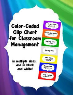 "make your clip chart very child friendly by associating it with colors, such as ""perfect purple"" ""outstanding orange"" and ""good day green!""  only $2"