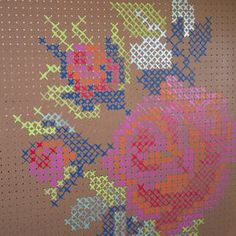 DIY Cross Stitch Pegboard