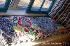 Elizabeth's Red Kitchen and Curtain Makeover - Sonya Hamilton Designs