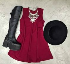 Outfit con bucaneras Night Night, Outfits, Black, Dresses, Fashion, Winter, Style, Clothing, Vestidos