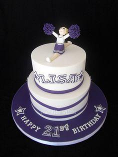 21st Birthday Cheerleader Cake by SweetTart Cakes {Natalie}, via Flickr 7