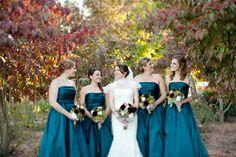 fall blue bridesmaid dresses - Google Search