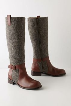 Wool Leather knee high boots Bootie Boots e8324cd6ad9a