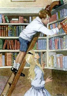 Library  - I am so glad that our Grandchildren love to read - they have 'travelled' far...(: