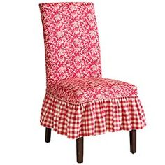 I love this dining chair slipcover style (Not Color) from Pier 1.  $50