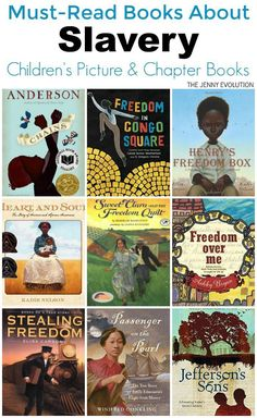 Must-Read Children's Books on Slavery for ALL Ages, including picture books and chapter books (Part of a Martin Luther King Jr. Day Series!)