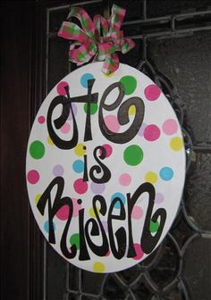 """He is Risen"" egg for Easter decor"