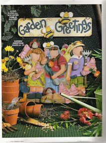 Garden Greetings - Galu - Álbuns da web do Picasa Painting Words, Tole Painting, Fabric Painting, Painting & Drawing, Arte Country, Pintura Country, Country Paintings, Painted Books, Pattern Books