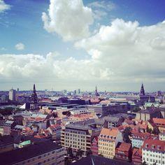 View from 'Vor Frelsers Kirke' in Christianshavn #Copenhagen