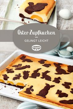 Oster-Zupfkuchen: Russischer Zupfkuchen mit Osterdeko vom Blech Easter plucked cake: Russian plucked cake with Easter decorations from the tin Festival and cake Chocolate Brownies, Chocolate Chip Cookies, Sweet Potato Recipes, Dessert Recipes, Cake Recipes, Food And Drink, Favorite Recipes, Sweets, Baking