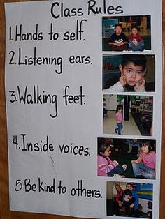 Classroom rules help with having an organized room.  Great as it includes pictures caters for visual learners and children who have difficult understanding the words .