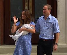 Kate leaving Lindo Wing with new baby!