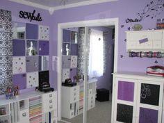 Barbies Purple Craft Room