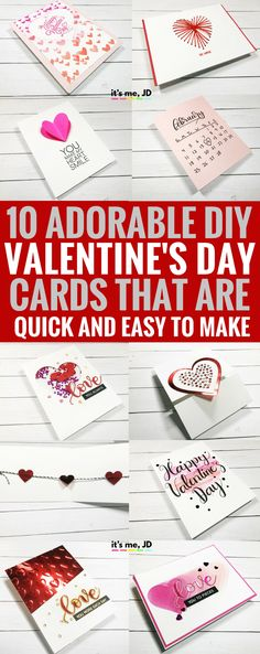 #valentinesdaycraft DIY Valentine's Day Card, Quick, Easy, Handmade, Love, Couple, Craft