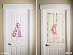 decorate your door with washi tape