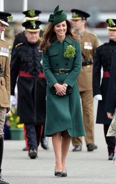 We Were Green With Envy Over Kate's Gorgeous Green Emilia Wickstead Dress Coat That She Donned For St. Patrick's Day
