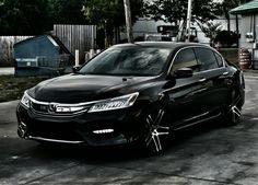 My New 2016 Honda Accord Touring V6 with my Old Wheels from my 2014 Honda Accord Sport.