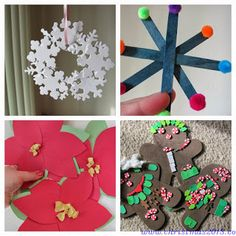 Easy Christmas Crafts for Kids Christmas Activities, Christmas Crafts For Kids, All Things Christmas, Holiday Crafts, Christmas Decorations, Christmas Ornaments, Christmas Ideas, Crafts For Kids To Make, Diy Crafts For Kids